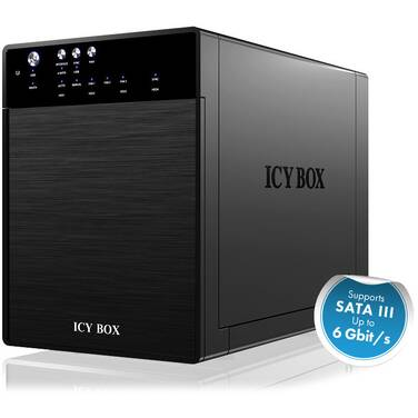 4 Bay ICY BOX IB-3640SU3 External JBOD System for 3.5 SATA HDD