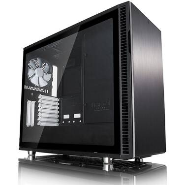 Fractal Design ATX Define R6 Case Black Tempered Glass Panel (No PSU) PN FD-CA-DEF-R6-BK-TG