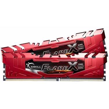 16GB DDR4 G.Skill (2x8G) 2400Mhz Flare X Red RAM PN F4-2400C15D-16GFXR