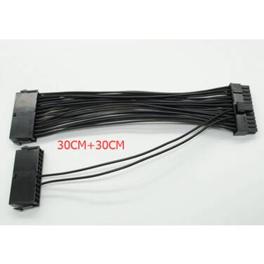 Dual 24 Pin Cable for Dual PSU