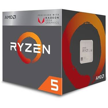 AMD AM4 Ryzen 5 2400G Quad Core 3.6Ghz RX Vega Graphics CPU YD2400C5FBBOX