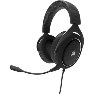 Corsair HS60 3.5mm/USB Stereo Gaming Headset Black with White Trim PN CA-9011174-NA
