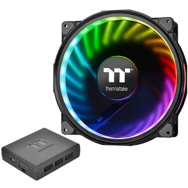 200mm Thermaltake Riing Plus 20 LED RGB Case Fan Premium Fans with Controller PN CL-F069-PL20SW-A