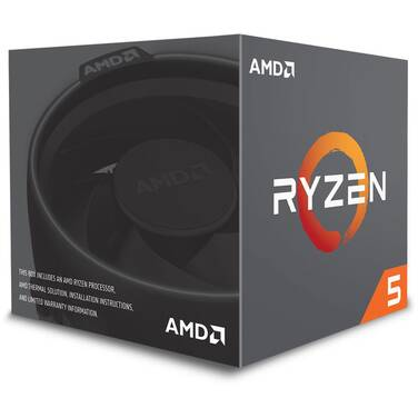 AMD AM4 Ryzen 5 2600 Six Core 3.40GHz 65W CPU PN YD2600BBAFBOX (No Integrated Graphics)