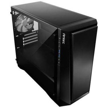 Antec MicroATX P6 Case Black with Tempered Glass (No PSU)