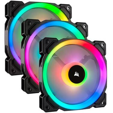 3 x 120mm Corsair Light Loop Series LL120 RGB Case Fans CO-9050072-WW