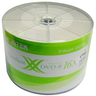 50 Pack Ritek 16x DVD-R Printable Spindle PN DVD-R50X16-RI