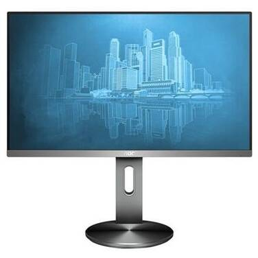 23.8 AOC I2490PXQU FHD IPS LED Monitor with Height Adjust and Speakers