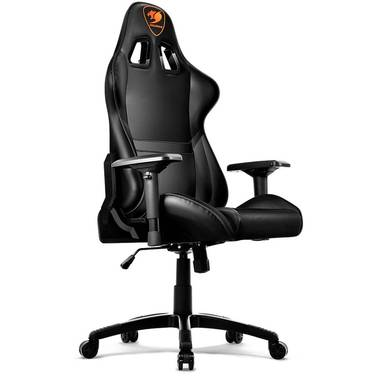 Cougar Armor Gaming Chair Black with Neck/Lumbar Support