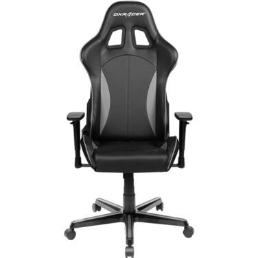 DXRacer DXR-FL57-BK Series Gaming Chair Neck/Lumbar Support - Black & Carbon Grey