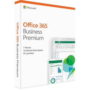 Microsoft Office 365 Business Premium Retail Mac/Win 1 Year Subscription PN KLQ-00431