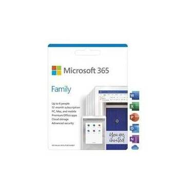 Microsoft 365 Family (Office Home Mac/Win) 1 Year Subscription 6GQ-01143 up to 6 user