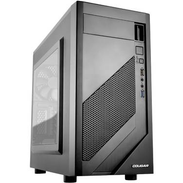 Cougar MicroATX MG110 Case Black with Window (No PSU)