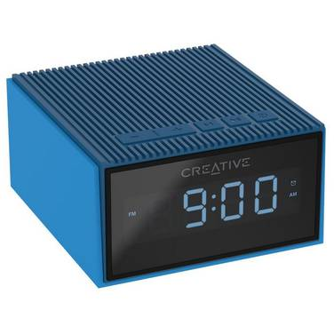 Creative Chrono BLUE Portable Splash-Proof Bluetooth Speaker/FM Radio/Clock