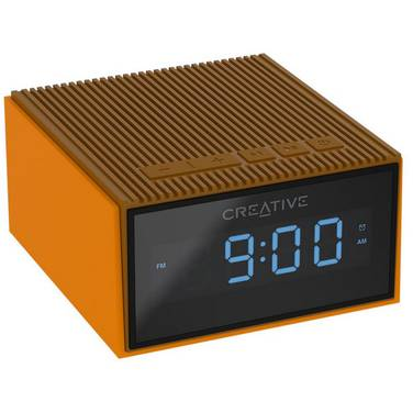 Creative Chrono BRONZE Portable Splash-Proof Bluetooth Speaker/FM Radio/Clock