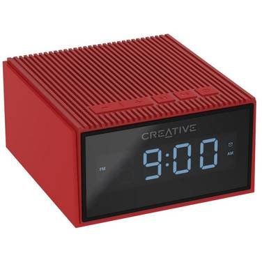 Creative Chrono RED Portable Splash-Proof Bluetooth Speaker/FM Radio/Clock