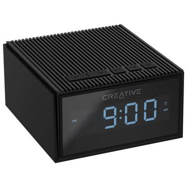 Creative Chrono BLACK Portable Splash-Proof Bluetooth Speaker/FM Radio/Clock