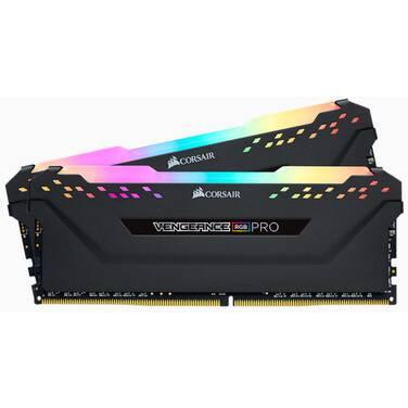 16GB DDR4 Corsair (2x8GB) CMW16GX4M2C3200C16 3200MHz Vengeance RGB Pro Ram Kit Black