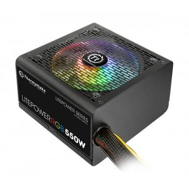 550 Watt Thermaltake Litepower RGB Power Supply PN PS-LTP-0550NHSANA-1