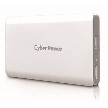 10000mAH CyberPower Classic Power Bank White PN CP10000PEG-WG