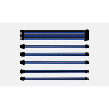 Cooler Master Blue/Black Sleeved Extension Cable Kit PN CMA-SEST16BLBK1-GL