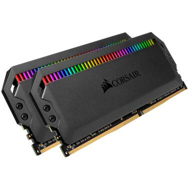 32GB DDR4 Corsair (2x16GB) 3200MHz Dominator Platinum CMT32GX4M2C3200C16 RGB Ram Kit