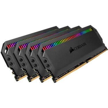 32GB DDR4 Corsair (4x8GB) 3200MHz Dominator Platinum RGB Ram Kit PN CMT32GX4M4Z3200C16