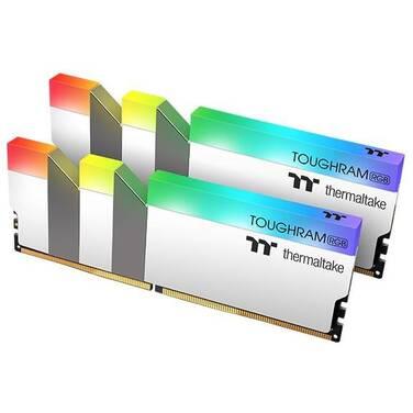 16GB DDR4 Thermaltake (2x8GB) TOUGHRAM RGB 3200MHz RAM WHITE R022D408GX2-3200C16A