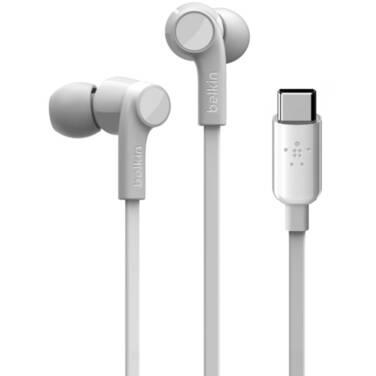 Belkin ROCKSTAR Headphones with USB-C Connector White