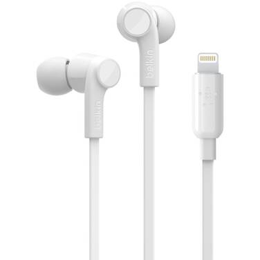 Belkin ROCKSTAR Headphones with Lightning Connector White