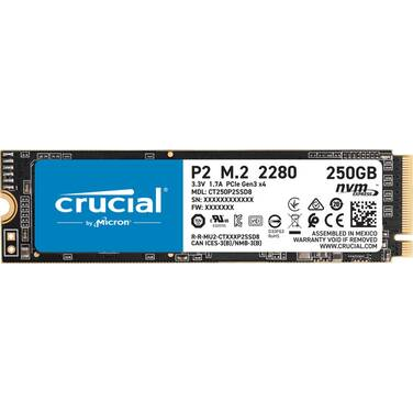 250GB Crucial P2 NVMe PCIe SSD PN CT250P2SSD8
