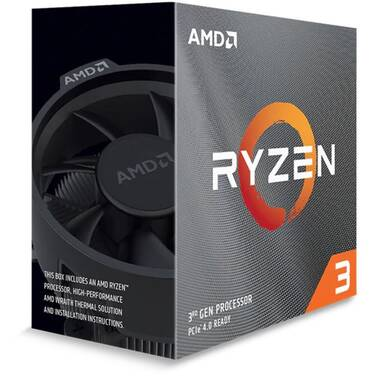 AMD AM4 Ryzen 3 3300X Quad Core 3.8GHz 65W CPU with Wraith Stealth Cooler