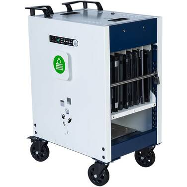 PC locs Revolution 16 Cart Notebook/Chromebook & Laptop Charging Trolley PCL6-10193
