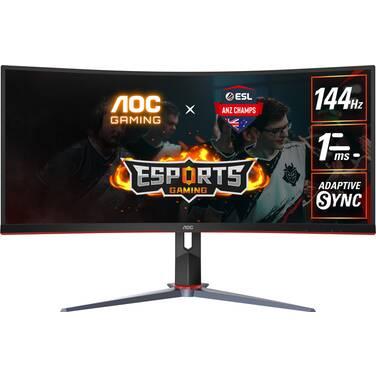 34 AOC CU34G2X VA Curved 144Hz WQHD FreeSync Gaming Monitor