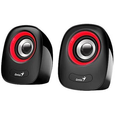 Genius SP-Q160 Red/Black 3.5mm 6W 2.0 Speakers