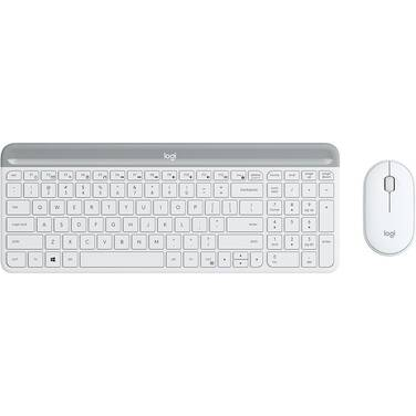 Logitech MK470 Slim Wireless Keyboard And Mouse Combo 920-009183 White