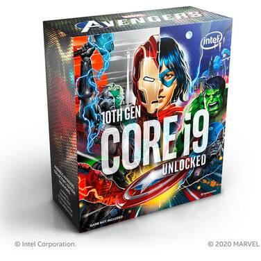 Intel S1200 Core i9 10900KA 3.70GHz 10 Core CPU BX8070110900KA (No Heatsink included) Marvels Avengers Collectors Edition Packaging