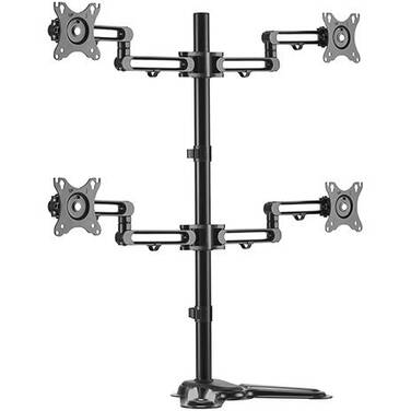17-32 Brateck LDT30-T048 Quad Monitor Premium Articulating Aluminum Monitor Stand