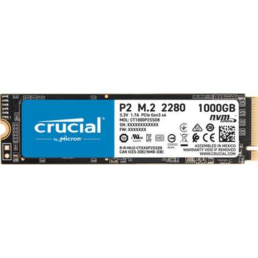 1TB Crucial P2 NVMe PCIe M.2 3D NAND SSD CT1000P2SSD8