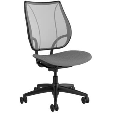 Humanscale Liberty Armless Office Chair (Black / Grey)