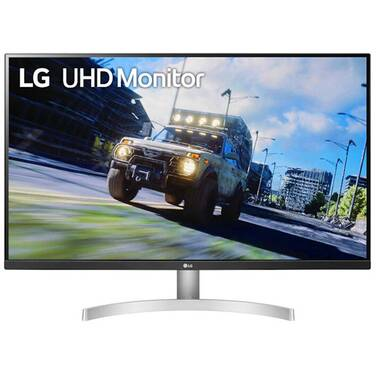 31.5 LG 32UN500-W 4K HDR10 FreeSync White Gaming Monitor With Speakers