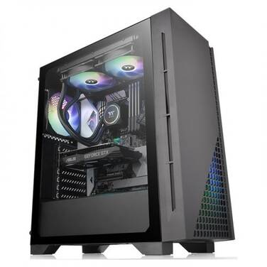 Thermaltake ATX H330 Tempered Glass Mid-Tower Case (No PSU) CA-1R8-00M1WN-00