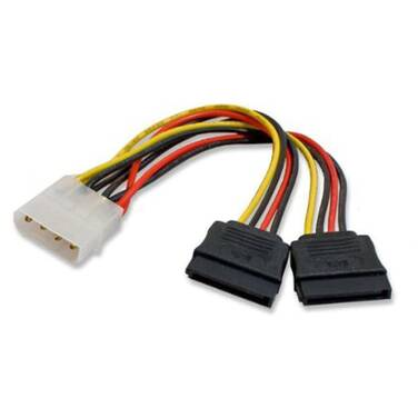 Generic Molex Power to Dual SATA Power Cable Adapter