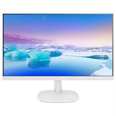23.8 Philips 243V7QDAW FHD IPS White Monitor with Speakers