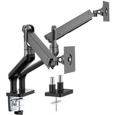 17-32 Brateck Dual Monitor Premium Arm (Black) LDT50-C024-B