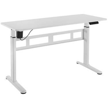 Brateck Stylish Single Motor Sit Stand Desk White S04-22D-W
