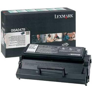 Lexmark 08A0478 Black Toner Cartridge (6,000 Pages)