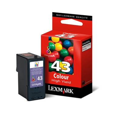 Lexmark 18Y0143A NO.43XL Colour Inkjet Cartridge