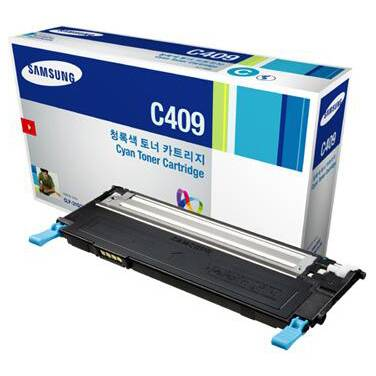 Samsung CLT-C409S/SEE Cyan Toner Cartridge (1,000 Pages)