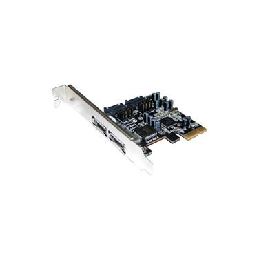4 Port eSATA PCIe ST-Lab Controller Card (2 x External / 2 x Internal SATA)